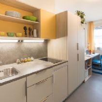 Küchenzeile im neuen Musterzimmer des Wolf-Dietrich-Heims
